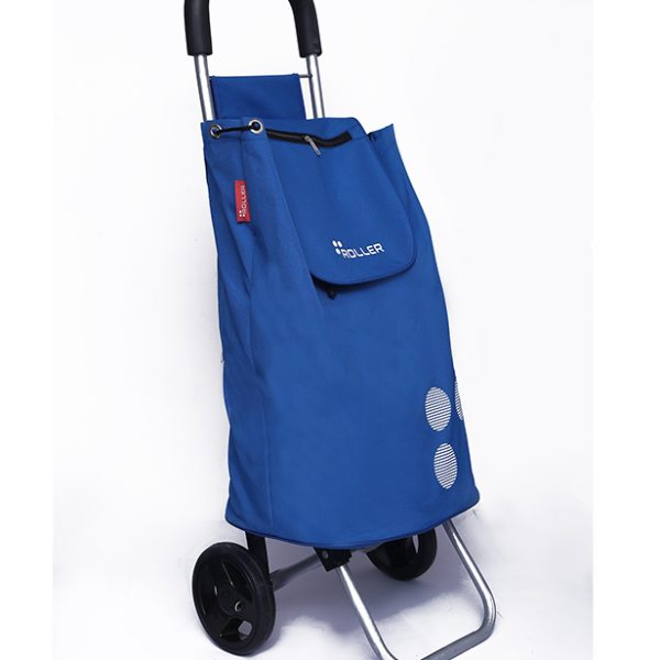 Cobalt Blue Shopping Roller 45 Degree