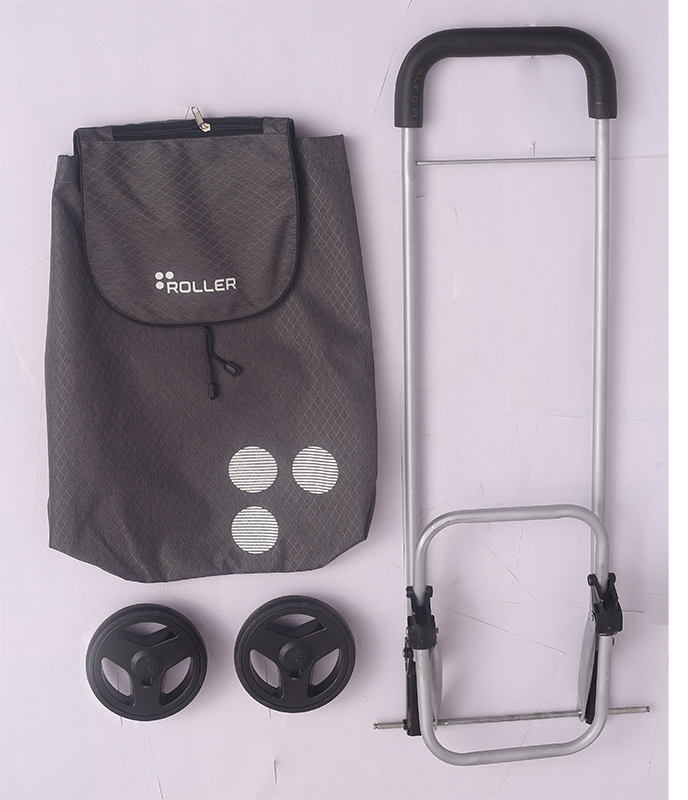 Charcoal Grey Shopping Roller Full Package