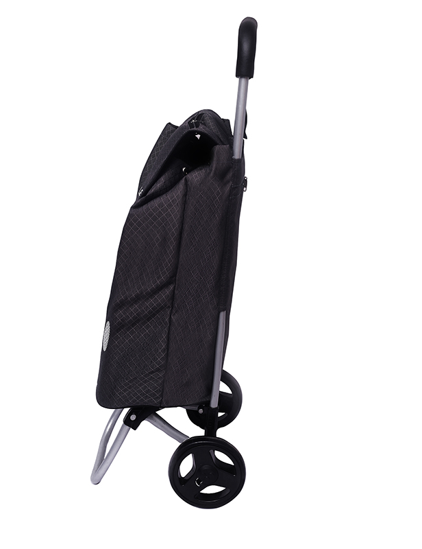 Charcoal Grey Shopping Roller Side