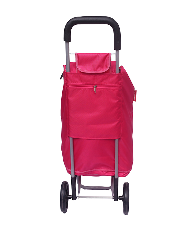 Neon Pink Shopping Roller Back