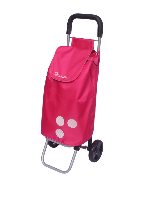 Neon Pink Shopping Roller Side