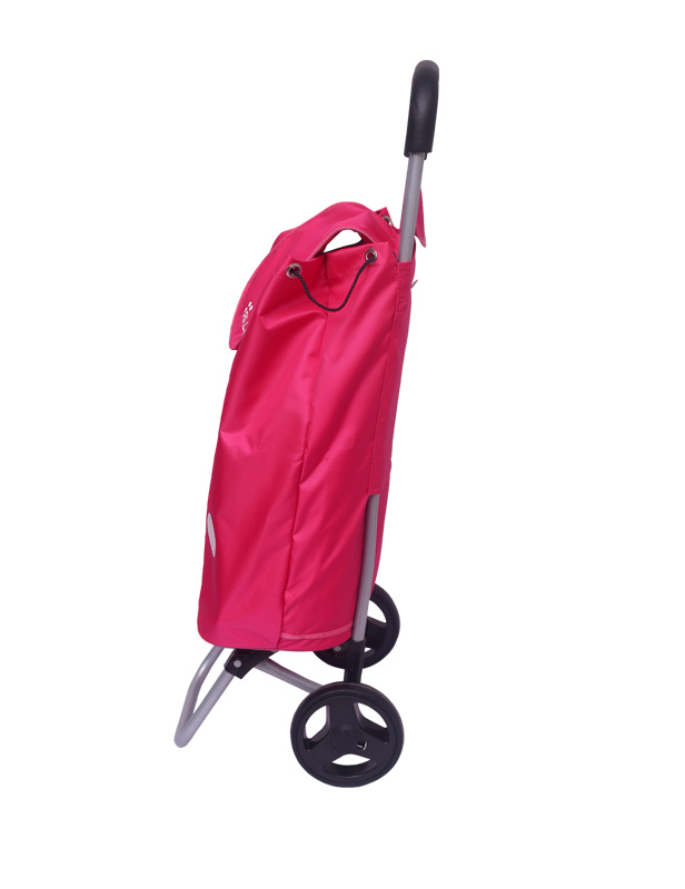 Neon Pink Shopping Roller Full Side