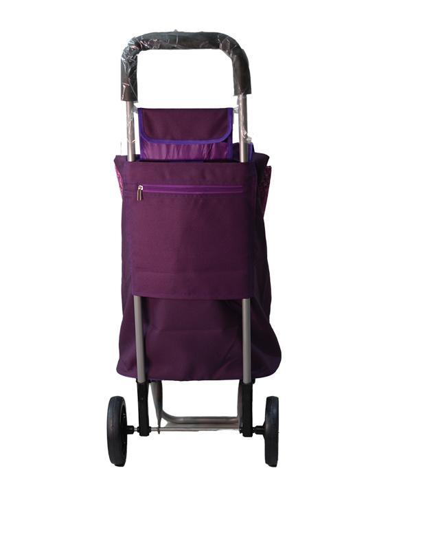 Shopping Trolley Purple Back