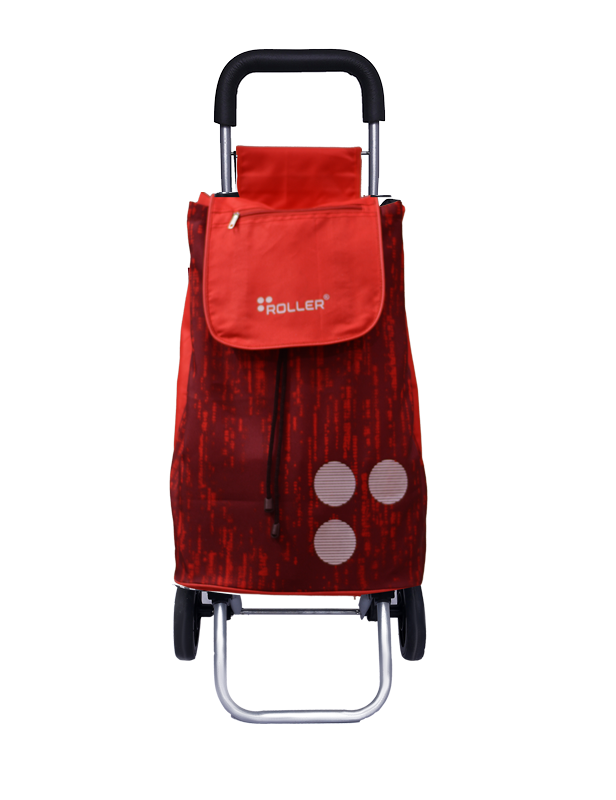 Shopping Trolley Ruby Red Front
